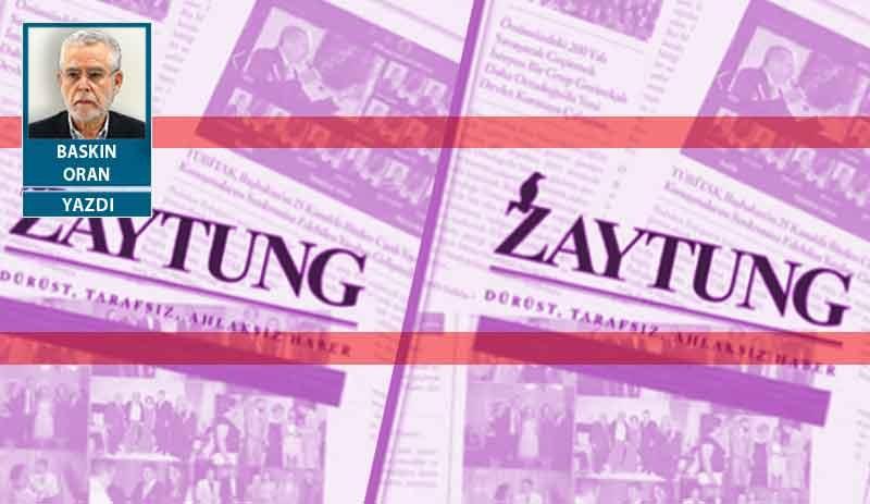 Bu Zaytung derhal KHK'yle kapatılmalı ve 299'dan tutuklanmalıdır