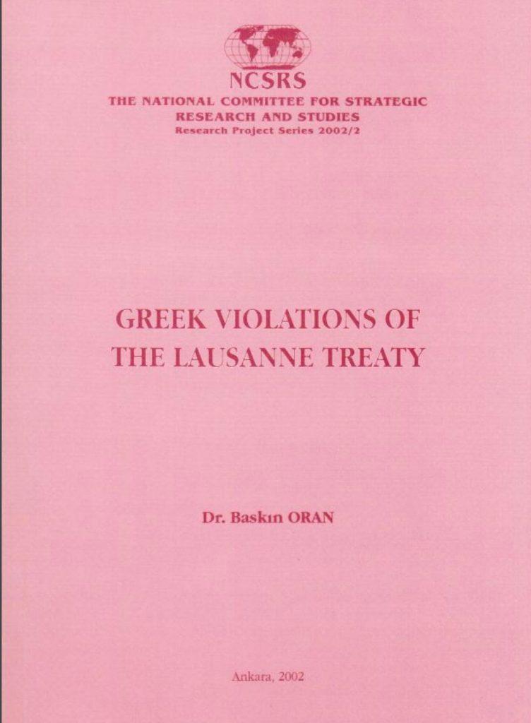 Greek Violations of the Lausanne Treaty