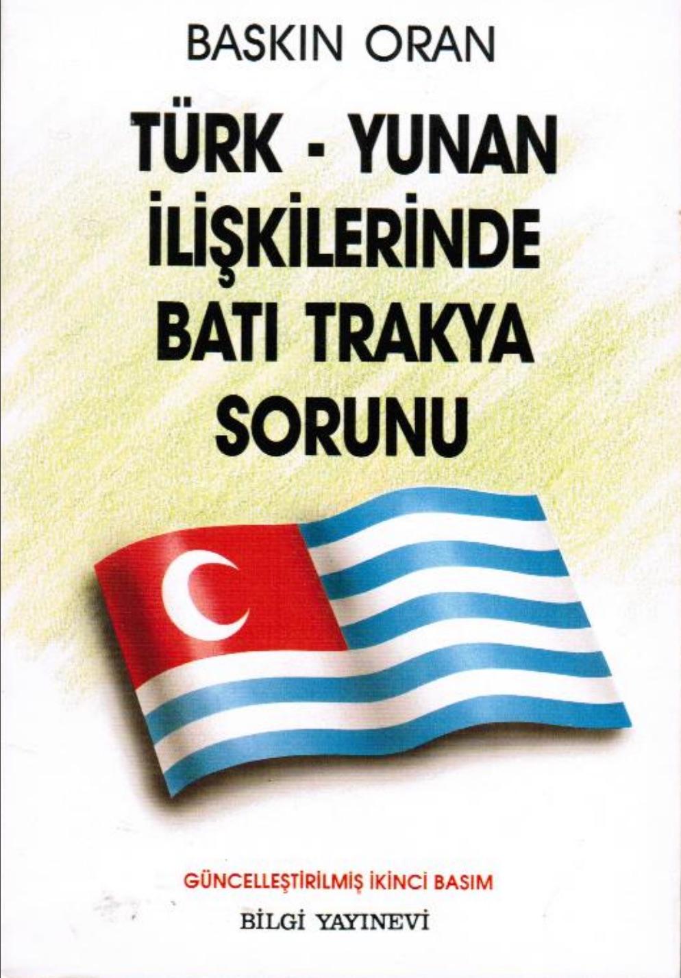 Türk-Yunan İlişkilerinde Batı Trakya Sorunu, 1986